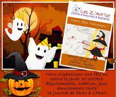 Nous organisons une fête au centre le jeudi 30 octobre déguisements, création, jeux, amusements toute la jou. #LesZArtIst