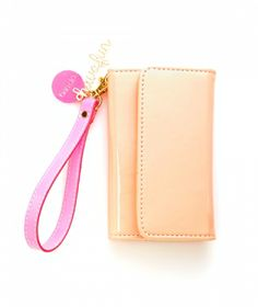 ban.do Disco Tech Wristlet- Cantelope - opens up to hold your phone and wallet items in a beautiful gold color!!