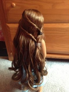 Cute American Girl doll hairstyle
