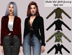 Sims 4 CC's - The Best: Trouble Tied Shirt Accessory by Lumy Sims