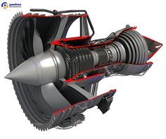 Rolls-Royce Turbofan Engine Cutaway