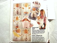McCalls Baby Doll Clothes Pattern UNCUT by PatternsFromThePast