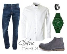 """CLASIC BASICS"" by caritoviena on Polyvore featuring Dsquared2, Lacoste, 1 Like No Other, Boohoo, men's fashion and menswear"