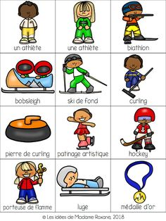 Dropbox - Link not found Bobsleigh, Theme Sport, Sports Activities For Kids, 2018 Winter Olympics, French Classroom, Winter Games, Sport Craft, Teaching French, Mini Books