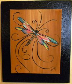 Dragonfly Whimsey b Tole Painting, Painting & Drawing, Dragonfly Art, Dragonfly Painting, Wine And Canvas, Paint And Sip, Easy Paintings, Canvas Paintings, Learn To Paint