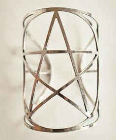 PAMELA LOVE Mini Pentagram Cuff Silver