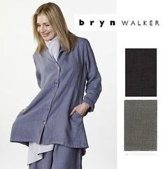 BRYN WALKER Heavy Linen ORLANDO JACKET A-Line Shirt Long XS S M L XL 2015 COLORS