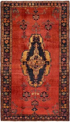Red x Hamedan Persian Rug Red Persian Rug, Persian Carpet, Classic Rugs, Magic Carpet, Cool Rugs, Colorful Rugs, Rugs On Carpet, Iran, Persian Restaurant