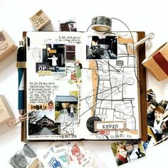 Gorgeous midori travelers notebook pages - ideas and inspiration for keeping a travel journal, sketchbook, scrapbook, or art journal Travel Maps, New Travel, Travel Posters, Travel Quotes, Travel Europe, Travel Destinations, Travel Album, Travel Usa, Europe Packing