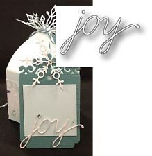 JOY SCRIPT die by MEMORY BOX verse word for holiday christmas cards