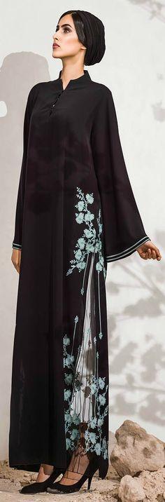 Laser cut designs and Applique Design Array Mehr Abaya Style, Abaya Chic, Hijab Abaya, Islamic Fashion, Muslim Fashion, Ethnic Fashion, Modest Fashion, Abaya Designs, Modele Hijab