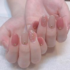 korean nail art Starting from the basics, gel nails are done with gel nail lacquer that has a special formula. This nail lacquer is applied to your nails in coats and then it is dried u Fall Nail Art, Cute Nail Art, Cute Nails, Pretty Nails, My Nails, Korean Nail Art, Korean Nails, Asian Nail Art, Minimalist Nails