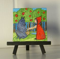 Have Some Cookies Red Riding Hood Original Mini by thebluewindmill