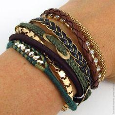 Bracelets brésiliens style hipanema. Marron/kaki - Bijoux Fantaisie/Bracelets - Bulle2co
