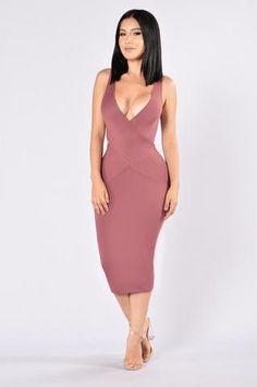 Overboard Dress - Marsala
