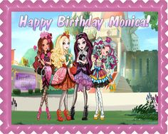 Ever After High 1 Edible Birthday Cake Topper OR Cupcake Topper, Decor - Edible Prints On Cake (Edible Cake &Cupcake Topper)