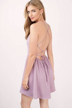 """Search """"Sonya Mauve Skater Dress"""" on Tobi.com! lace up lavendar purple lilac fit and flare backless pretty bridesmaid wedding #ShopTobi #fashion cute sweet timeless classy cheap affordable save money for women girls teens dresses wedding rehearsal bride bridal stylish fashionable elegant modest maxi midi mini long sexy gorgeous shop buy special occasion dance prom homecoming dinner party date"""