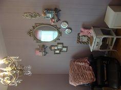 DIY girl nursery Glam Vintage Shabby Chic Baby Girl Nursery