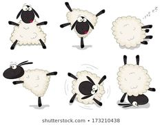 Find Nice Set Vector Cartoon Sheep stock images in HD and millions of other royalty-free stock photos, illustrations and vectors in the Shutterstock collection. Sheep Cartoon, Cartoon Clip, Tier Doodles, Farm Animals, Cute Animals, Sheep Logo, Sheep Illustration, Sheep Art, Animal Doodles
