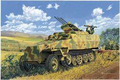 Half-track w/ flak guns