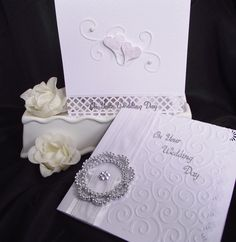 ~ White Elegance ~ I like the simpleness of the card in the back.