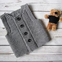Knit baby vest | Baby waistcoat http://etsy.me/2nZC3Lb . . . . . . #clothing #children #baby #babyshower #babyvest #knitvest #babywaistcoat…