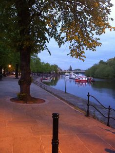 Chester - River Dee at dusk.