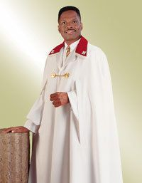 Ministerial Clergy Cape White with Red Trim