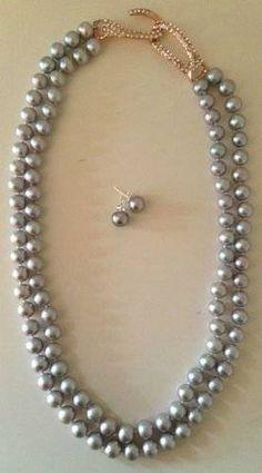Adore grey pearls - grey anything really...