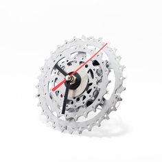small bicycle clock bicycle desk clock unique clock steampunk decor industrial decor boyfriend gift husband gift father gift