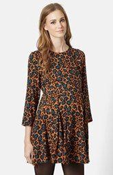 Topshop Animal Print Maternity Swing Dress
