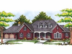 Eplans New American House Plan - Country Charm and European Refinement - 3336 Square Feet and 2 Bedrooms from Eplans - House Plan Code HWEPL09591