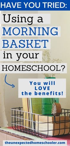 Mornings can be hectic when you homeschool, especially when you are homeschooling multiple children. The morning basket is a simple homeschool idea that gives a gentle approach to ease into your day. Cover homeschool subjects you normally wouldn't get to and in less time, as well as many other benefits. Grab my big list of morning basket ideas to fill your basket. #morningbasketactivities #homeschoolplanning #homeschoolhelp Curriculum, Homeschool, Middle School, High School, Multiplication For Kids, Have You Tried, Time Management, Basket, Activities
