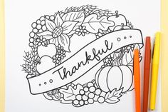 Free Printable Thanksgiving Coloring Page