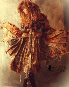 WAITING LIST Vintage Tapestry Patchwork Hippie Gypsy Elf Fairy Coat Magical Carpetbagger Fringed Majik Horse