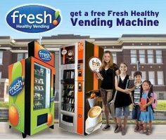 Looking for a Free Health Vending Machine and/or Espresso Cafe' Machine?