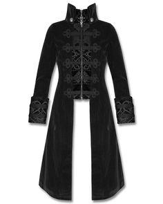 Punk Rave Womens Jacket Coat Baratheon Black Velvet Gothic Steampunk