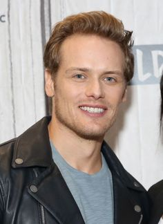 NEW HQ Pics of Sam Heughan and Caitriona Balfe at NYC AOL Build | Outlander Online