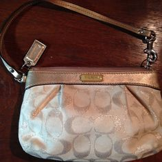 Authentic Coach Wristlet perfect condition. this piece is part of my new 'Buddhalicious Bag' items, check out my page or follow for updates! Bags Clutches & Wristlets
