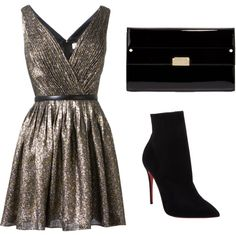 Untitled #285 by bthorne on Polyvore featuring Yves Saint Laurent, Christian Louboutin and Jimmy Choo