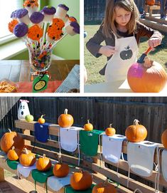 Pumpkin Fall Craft - Free Birthday Party Printables