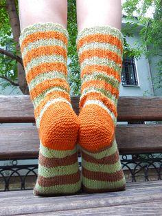 полосатые носки с клином подъема на подошве / horoshogromko.ru
