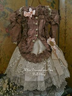 Superb Two Piece French Bebe Costume (item #1296851, detailed views)