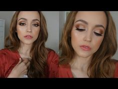 Too Faced Sweet Peach Palette | Makeup Tutorial - YouTube This look is so gorgeous! Photo doesn't do it justice.