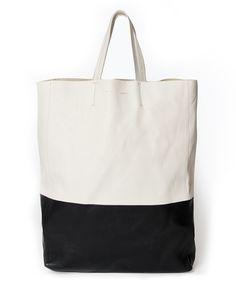 7f72c29ff0d0f Céline Cabas Calfskin Black and White bag online webshop safe shopping designer  luxury brands LabelLOV Antwerp