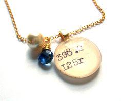 Catalog card necklace. <3