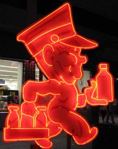 When milk was delivered.  These Neon signs tell a story from better days gone by