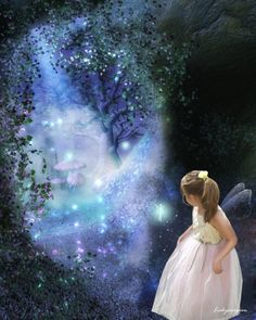 """""""Embrace your inner child, and loving innocence and magickal places will always be available to you."""" - Jasmeine Moonsong original artwork by: LadyXscorpion I Believe In Angels, Believe In Magic, Wiccan, Magick, Unicorn And Fairies, Fantasy Landscape, Fantasy Art, Inner Child, Fairy Tales"""