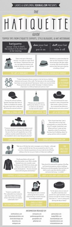 Hat Etiquette Guide | fedoras.com