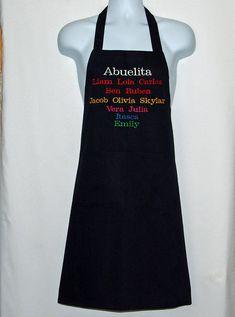 Abuelita Apron Personalize Twelve Kids Names For